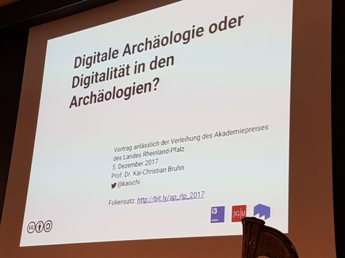 "Preisverleihung an Prof. Dr. Kai-Christian Bruhn ""Digitale Archäologie"""