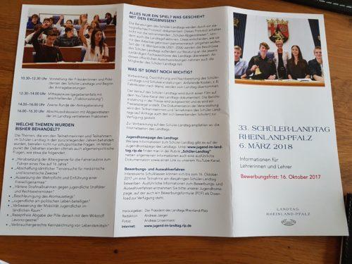Schülerlandtag: Marion Schneid besuchte Vorbereitungen der Klasse 10c der integrierten Gesamtschule Edigheim