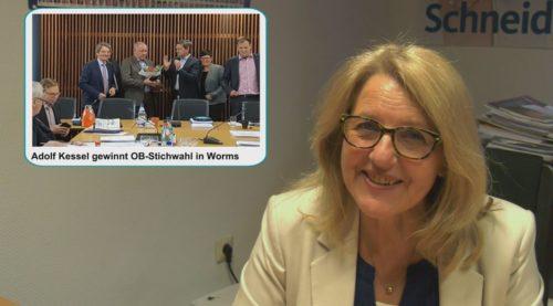 VIDEO: MARION SCHNEID INFORMIERT – Fortschritt Haushaltsberatungen Mainz und Ludwigshafen, Kessel gewinnt OB-Wahl in Worms, 70 Jahre Volkshochschulen, Wirtschaftsrat, Ausblick