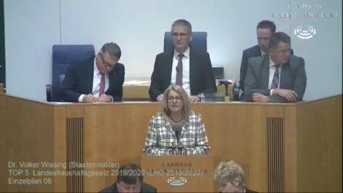 Rede von Marion Schneid zum Landeshaushaltsgesetz 2019/20