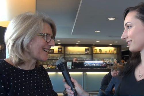 Marion Schneid bei Eröffnung von LUTIME Burgerrestaurant
