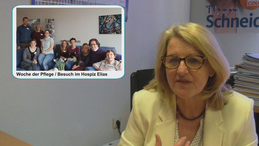 VIDEO: Marion Schneid Informiert – Woche der Pflege, 50 Jahre Anne-Frank RS plus, Deutscher Bibliotheksverband, Ausschußsitzung Uni KO/LD/KL, Universitätsmedizin Mainz, Ausblick