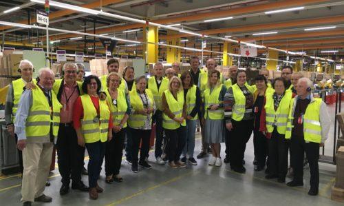 CDU-Landtagsabgeordnete Schneid besucht mit dem CDU-Ortsverband Maudach das Amazon-Logistikzentrum in Frankenthal