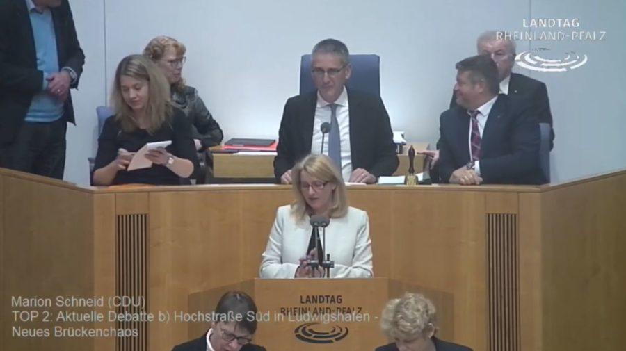VIDEO: Reden von Marion Schneid zum Brückenchaos bei der Hochstrasse Süd Ludwigshafen aus der 94. Plenarsitzung des Landtages