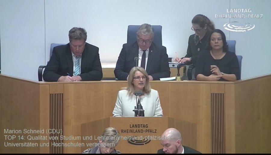 VIDEO: Rede von Marion Schneid – Qualität von Studium und Lehre an Hochschulen und Universitäten verbessern