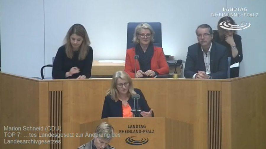 Rede zum Gesetzentwurf der Landesregierung zum Landesgesetz zur Änderung des Landesarchivgesetzes (mit Video)
