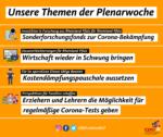 Themen der CDU für die Plenarsitzungen im Mai