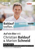 Am 4. August: Auf ein Bier mit Christian Baldauf und Marion Schneid im Mayers Brauhaus
